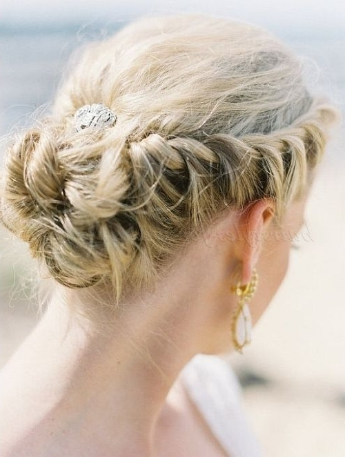 34 Stunning Wedding Hairstyles | Braided Wedding Hairstyles, Veil With Regard To Wedding Hairstyles With Braids For Bridesmaids (View 7 of 15)