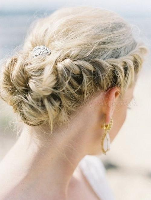 34 Stunning Wedding Hairstyles | Braided Wedding Hairstyles, Veil With Regard To Wedding Hairstyles With Braids For Bridesmaids (View 15 of 15)