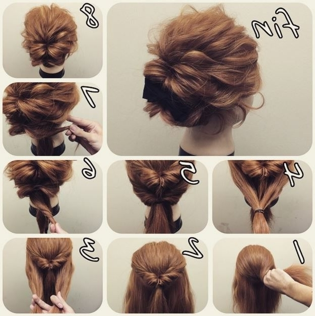 35 Best Hair Images On Pinterest | Hairstyle Ideas, Chignons And With Simple Wedding Hairstyles For Long Hair Thick (View 2 of 15)