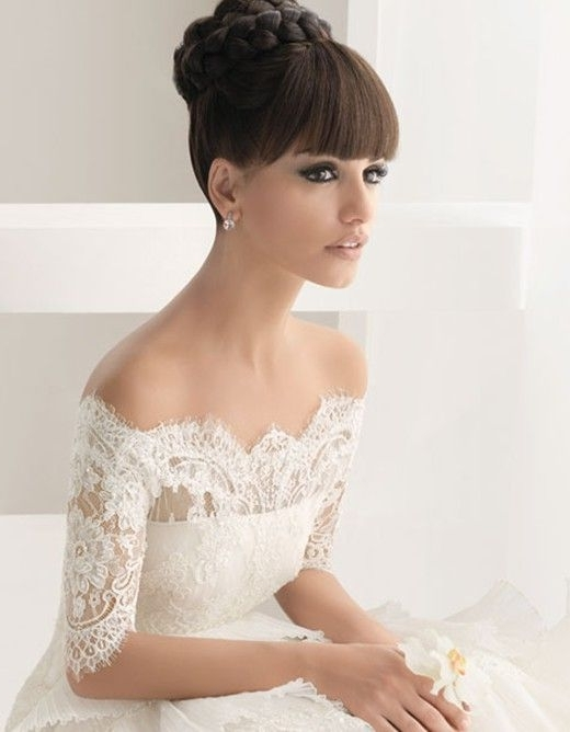 35 Best Wedding Hair With A Fringe! Images On Pinterest   Wedding In Wedding Hairstyles For Long Hair With Fringe (View 15 of 15)