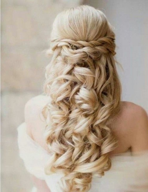 35 Pretty Half Updo Wedding Hairstyles Weddingomania | Weddingomania With Regard To Half Updo Wedding Hairstyles (View 5 of 15)