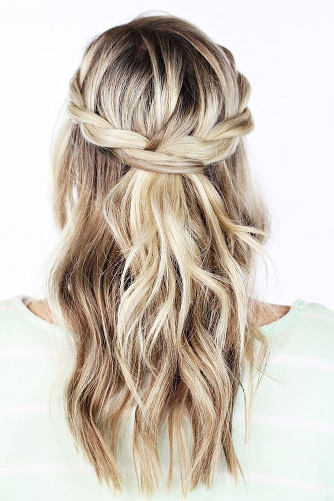 36 Chic And Easy Wedding Guest Hairstyles | Pinterest | Wedding Inside Wedding Hairstyles For Long Layered Hair (View 13 of 15)