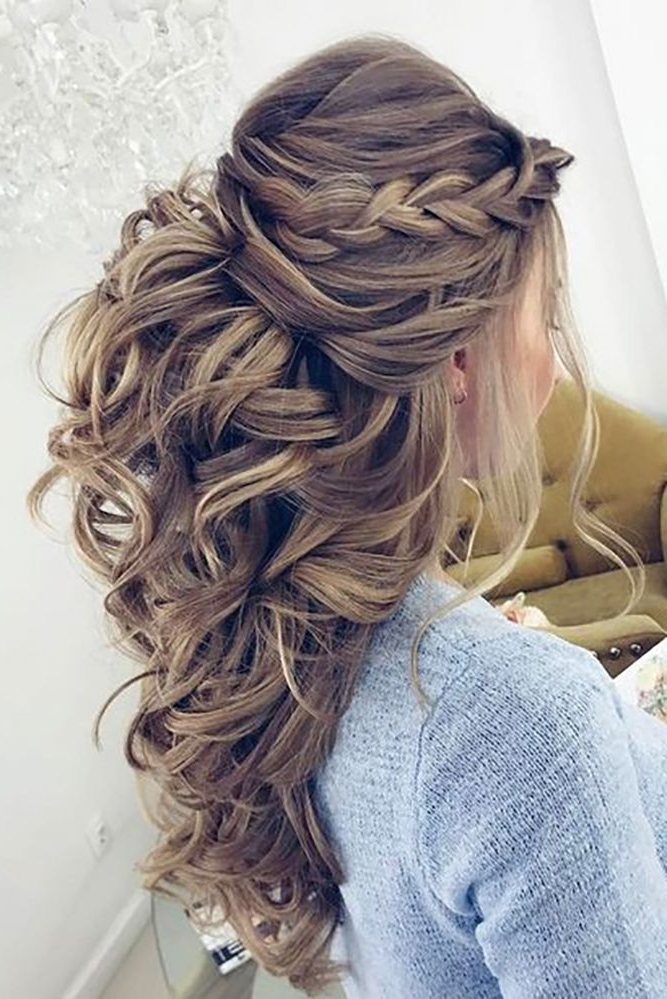 36 Chic And Easy Wedding Guest Hairstyles | Pinterest | Wedding Intended For Easy Wedding Hairstyles For Long Curly Hair (View 3 of 15)