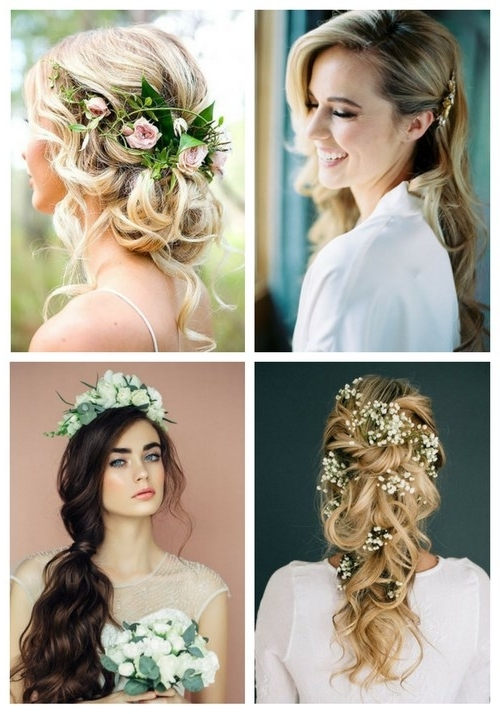 36 Inspiring Spring Wedding Hairstyle Ideas | Happywedd Pertaining To Spring Wedding Hairstyles For Bridesmaids (View 3 of 15)