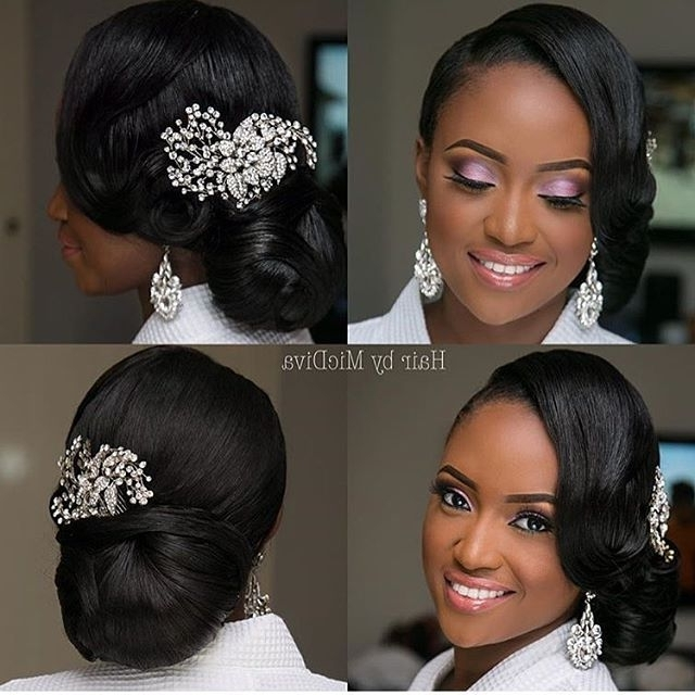 368 Best Bride Hairs Images On Pinterest Bridal Hairstyles In Wedding Hairstyles For Black Bridesmaids (View 2 of 15)