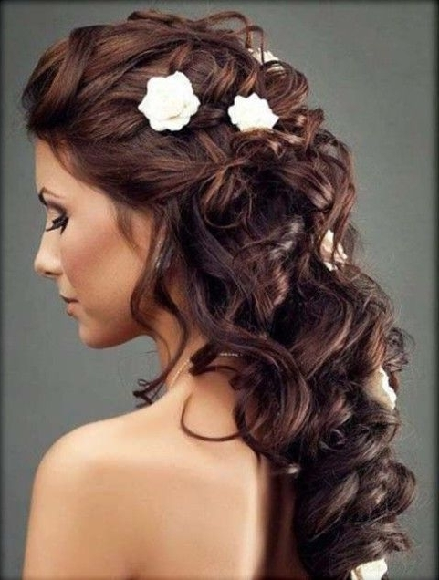 37 Best Wedding Hairstyles Images On Pinterest | Bridal Hairstyles Inside Part Up Part Down Wedding Hairstyles (View 5 of 15)