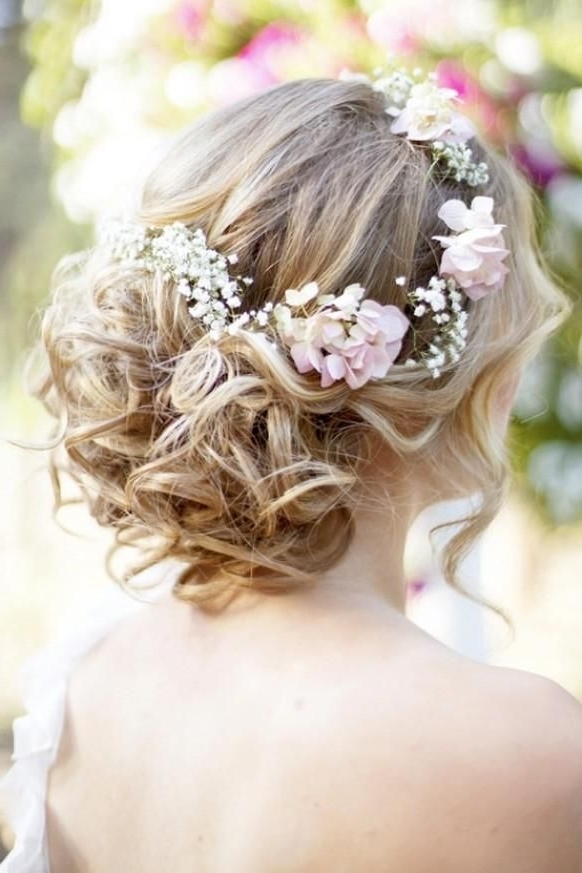 37 Eye Catchy Floral Wedding Hairstyles | Page 4 Of 7 | Ever After Guide Throughout Long Wedding Hairstyles With Flowers In Hair (View 4 of 15)