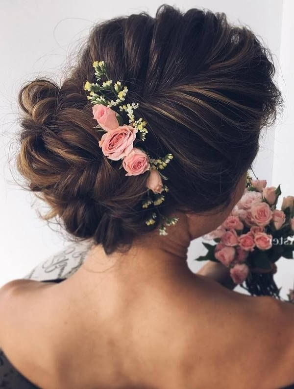 37 Eye Catchy Floral Wedding Hairstyles   Page 6 Of 7   Ever After Guide Pertaining To Romantic Bridal Hairstyles For Medium Length Hair (View 12 of 15)