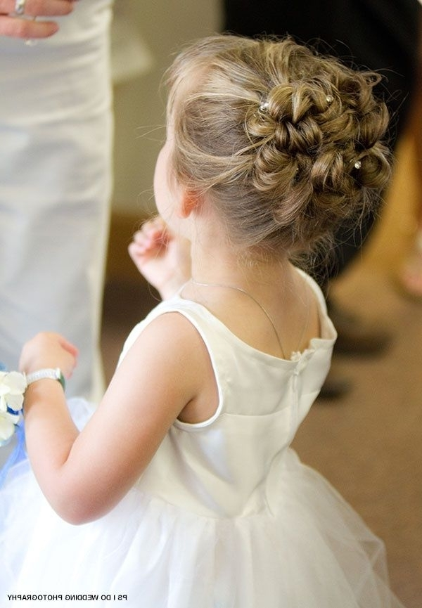 38 Super Cute Little Girl Hairstyles For Wedding | Deer Pearl Flowers Inside Wedding Hair For Young Bridesmaids (View 6 of 15)