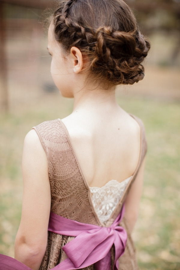 38 Super Cute Little Girl Hairstyles For Wedding | Deer Pearl Flowers Intended For Wedding Hair For Young Bridesmaids (View 12 of 15)