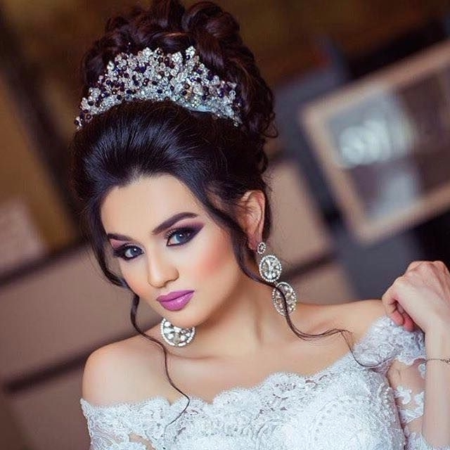 383 Best Arabic Makeup And Hairstyles 2 Images On Pinterest | Hair Within Arabic Wedding Hairstyles (View 2 of 15)