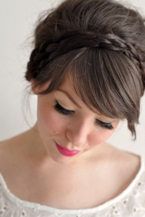 39 Chic And Pretty Wedding Hairstyles With Bangs – Weddingomania In Wedding Hairstyles With Fringe (View 7 of 15)