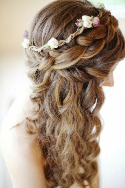 39 Half Up Half Down Hairstyles To Make You Look Perfect Pertaining To Hair Half Up Half Down Wedding Hairstyles Long Curly (View 4 of 15)
