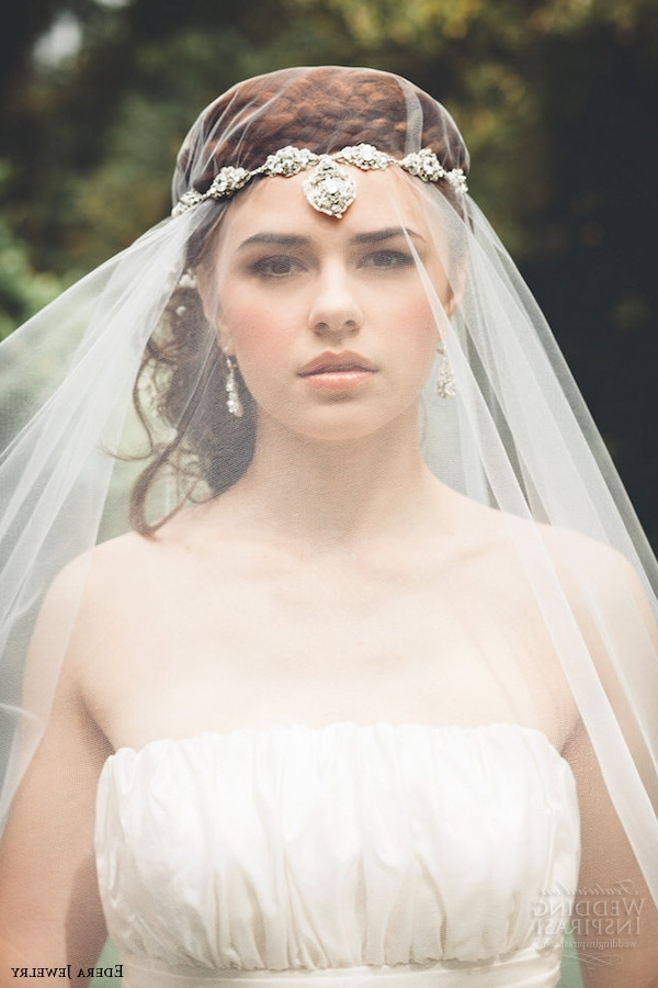 39 Stunning Wedding Veil & Headpiece Ideas For Your 2016 Bridal Pertaining To Wedding Hairstyles With Headband And Veil (View 11 of 15)