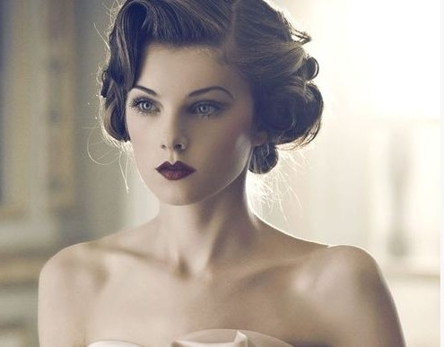 4 Glamorous Vintage Wedding Hairstyles – Pretty Designs With Regard To Vintage Updo Wedding Hairstyles (View 8 of 15)