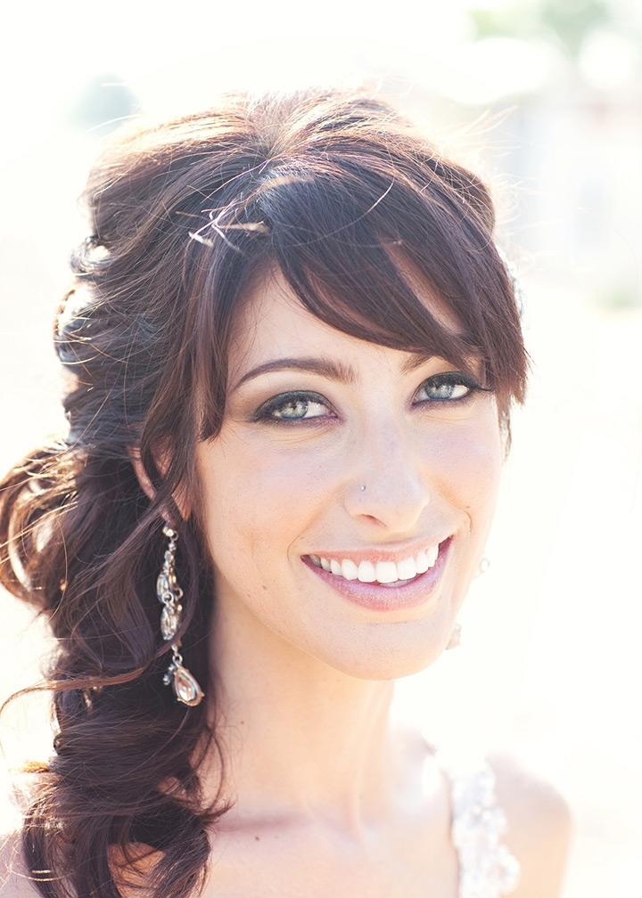 40 Beautiful Brides With Bangs – Mon Cheri Bridals Intended For Wedding Hairstyles With Fringe (View 12 of 15)