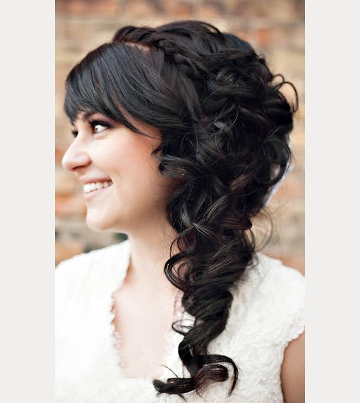 40 Beautiful Brides With Bangs – Mon Cheri Bridals Throughout Wedding Hairstyles For Long Hair With Bangs (View 7 of 15)