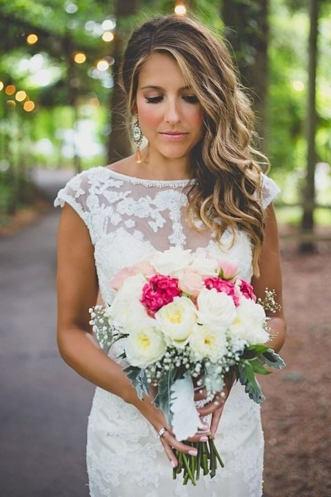 40 Gorgeous Side Swept Wedding Hairstyles | Happywedd Pertaining To Side Swept Wedding Hairstyles (View 2 of 15)