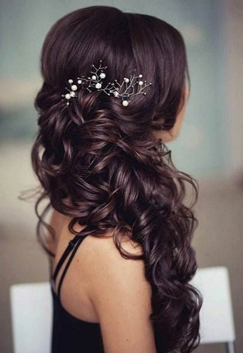 40 Gorgeous Side Swept Wedding Hairstyles | Happywedd Pertaining To Wedding Hairstyles To The Side (View 4 of 15)