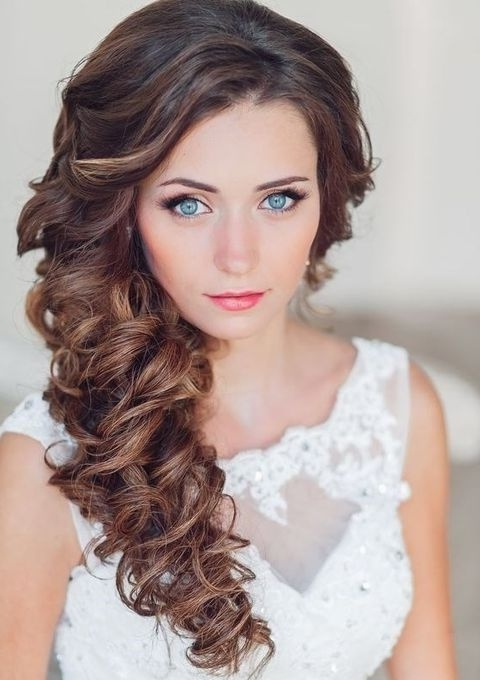 40 Gorgeous Side Swept Wedding Hairstyles | Side Swept, Wedding And Inside Wedding Hairstyles For Long Hair With Side Swept (View 7 of 15)
