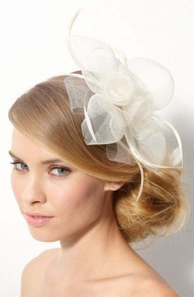 40 Hair Raising Wedding Hairstyles For Long Hair Slodive Pertaining Inside Wedding Hairstyles For Long Hair With Fascinator (View 5 of 15)