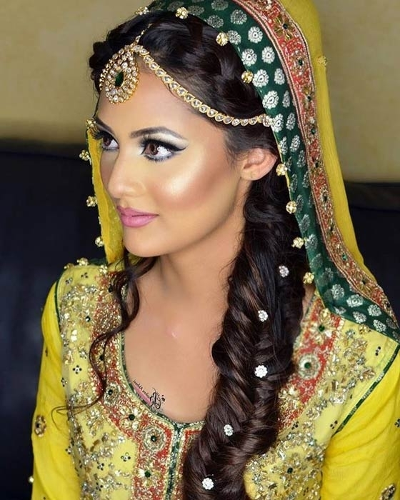 40 Indian Bridal Hairstyles Perfect For Your Wedding Pertaining To Braided Hairstyles For Long Hair Indian Wedding (View 15 of 15)