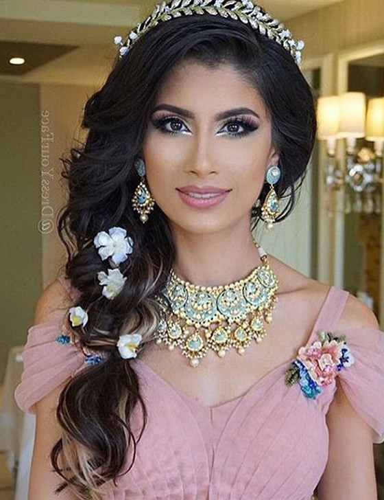 40 Indian Bridal Hairstyles Perfect For Your Wedding Throughout Wedding Hairstyles For Indian Bridesmaids (View 10 of 15)