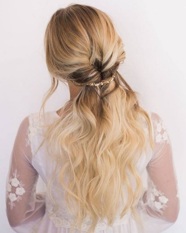 40 Stunning Half Up Half Down Wedding Hairstyles With Tutorial Inside Half Updo Wedding Hairstyles (View 8 of 15)