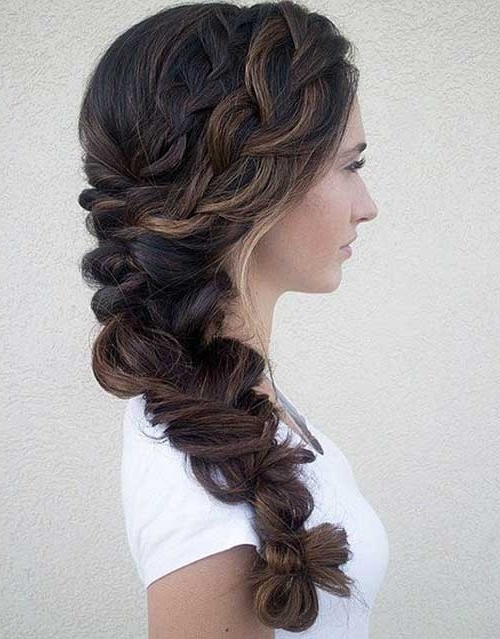 40+ Wedding Hair Images | Hairstyles & Haircuts 2016 – 2017 Pertaining To Fishtail Braid Wedding Hairstyles (View 6 of 15)