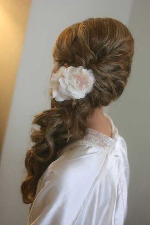 40+ Wedding Hair Images | Hairstyles & Haircuts 2016 – 2017 With Wedding Hairstyles With Side Ponytail Braid (View 9 of 15)