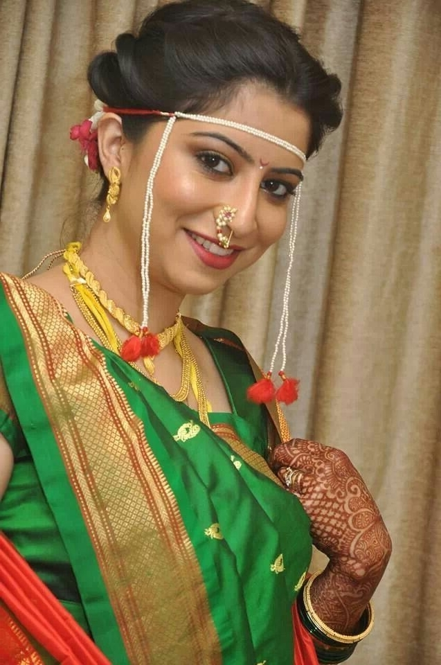 402 Best Maharashtrian Wedding Images On Pinterest | Marathi Wedding Within Maharashtrian Wedding Hairstyles For Long Hair (View 9 of 15)