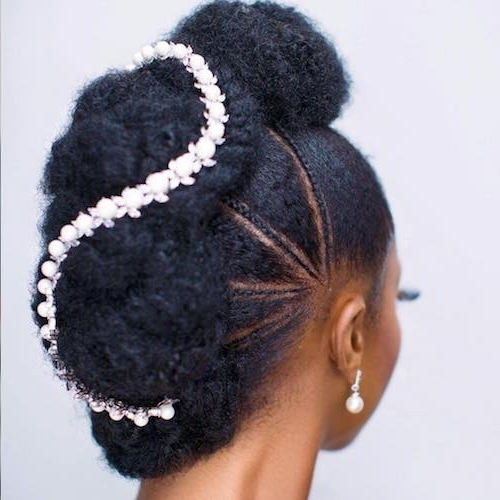 41 Wedding Hairstyles For Black Women To Drool Over 2018 Pertaining To Wedding Hairstyles For Afro Hair (View 5 of 15)