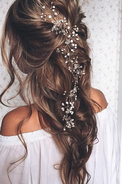 419 Best Wedding Hairstyles And Wedding Hair Accesories Or Random Within Wedding Hairstyles With Jewels (View 7 of 15)