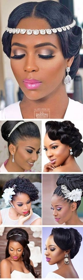 42 Black Women Wedding Hairstyles | Pinterest | Black Women Intended For Wedding Hair For Black Bridesmaids (View 10 of 15)