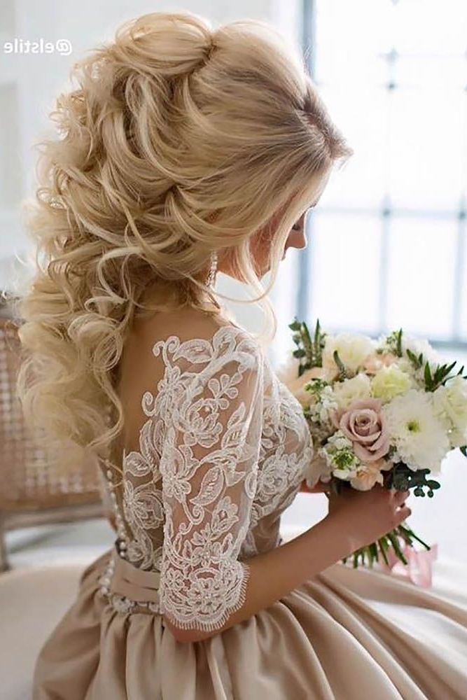 42 Half Up Half Down Wedding Hairstyles Ideas   Hair   Pinterest With Regard To Half Up Half Down Wedding Hairstyles (View 4 of 15)