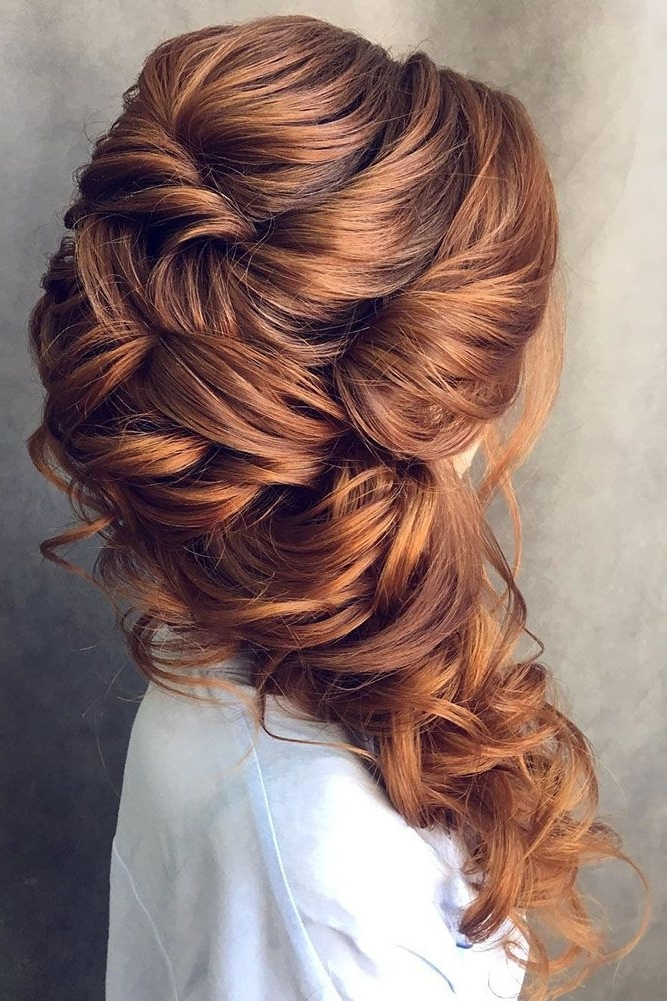 42 Half Up Half Down Wedding Hairstyles Ideas | Weddings, Brunettes In Brunette Wedding Hairstyles (View 11 of 15)
