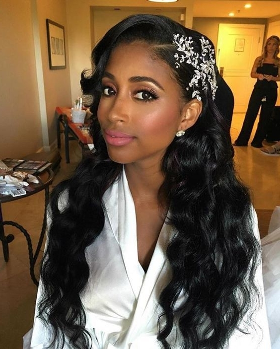 43 Black Wedding Hairstyles For Black Women | Pinterest | Loose Within Wedding Hairstyles For Black Women (View 2 of 15)