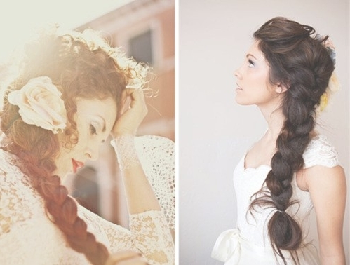 43 Gorgeous Side Braided Hairstyles | Hairstylo With Side Braid Wedding Hairstyles (View 6 of 15)
