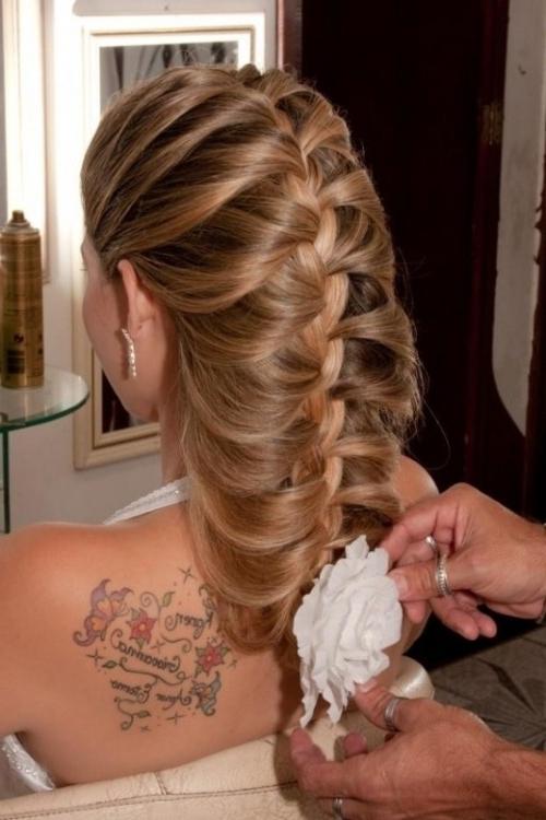 45 Braided Wedding Hairstyles Ideas – Weddingomania With Regard To Wedding Hairstyles With Plaits (View 9 of 15)
