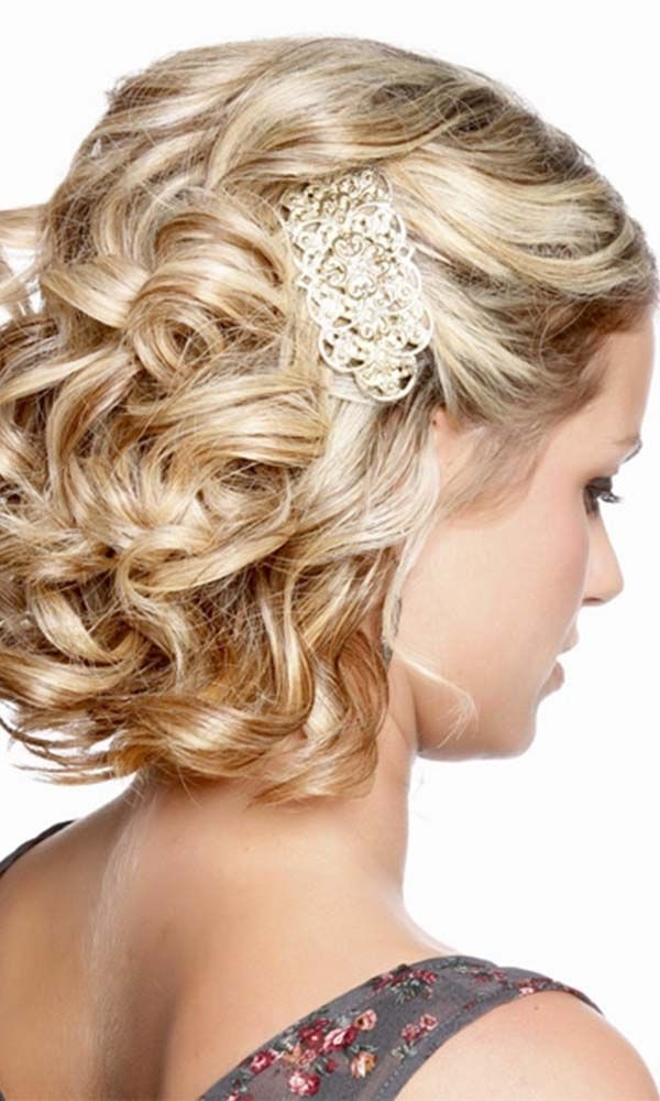 Featured Photo of Wedding Hairstyles For Short Curly Hair