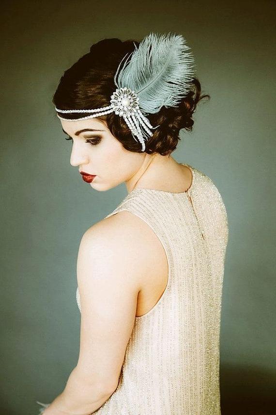 46 Great Gatsby Inspired Wedding Dresses And Accessories Within 1920S Era Wedding Hairstyles (View 13 of 15)