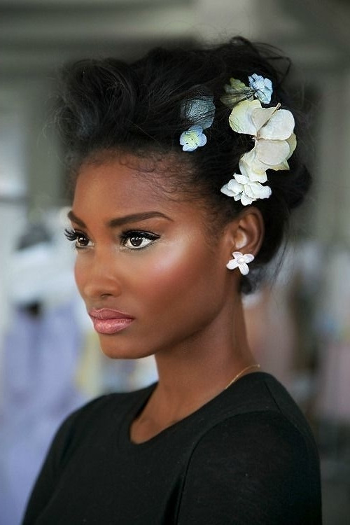 468 Best African American Wedding Hair Images On Pinterest | Wedding For Wedding Hairstyles For Afro Hair (View 3 of 15)