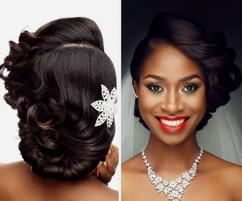 468 Best African American Wedding Hair Images On Pinterest | Wedding Regarding Wedding Hairstyles For Black Girl (View 3 of 15)