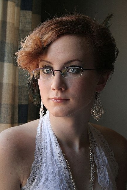 48 Best Brides With Glasses On! Images On Pinterest | Glasses, Bride Inside Wedding Hairstyles With Glasses (View 10 of 15)