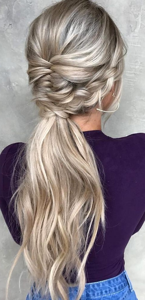 48 Our Favorite Wedding Hairstyles For Long Hair | Wedding For Wedding Hairstyles With Ponytail (View 13 of 15)
