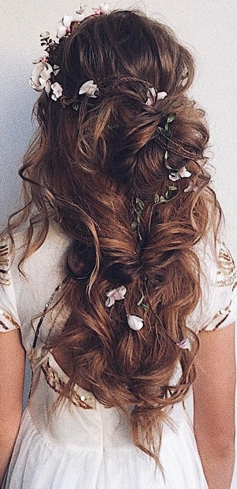 48 Our Favorite Wedding Hairstyles For Long Hair | Wedding In Wedding Hairstyles For Long Hair With Flowers (View 3 of 15)
