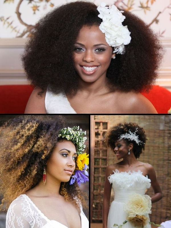 49 Best Natural Bridal Hairstyles Images On Pinterest | African For Wedding Hairstyles For Natural African American Hair (View 5 of 15)