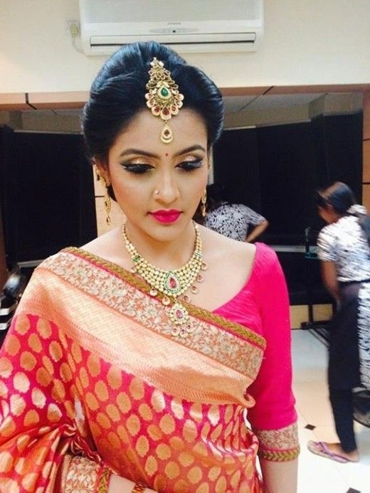 490 Best South Indian Brides Images On Pinterest | South Indian Pertaining To South Indian Tamil Bridal Wedding Hairstyles (View 2 of 15)