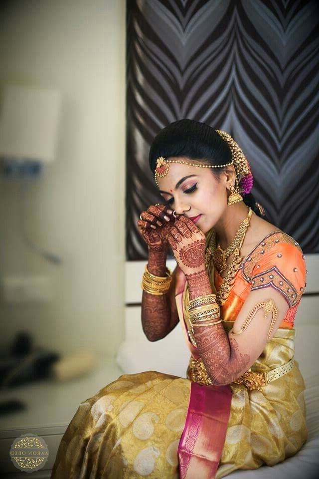 490 Best South Indian Brides Images On Pinterest | South Indian With South Indian Tamil Bridal Wedding Hairstyles (View 5 of 15)