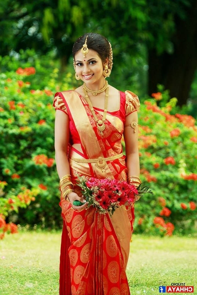 490 Best South Indian Brides Images On Pinterest | South Indian With South Indian Tamil Bridal Wedding Hairstyles (View 9 of 15)